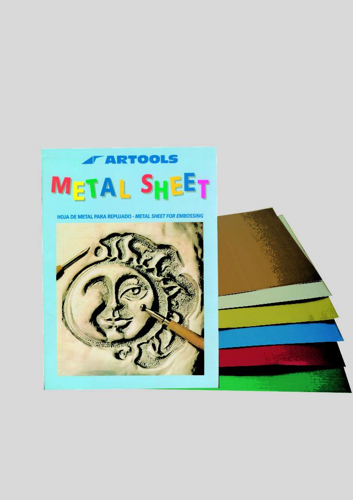 Folder of aluminium sheets
